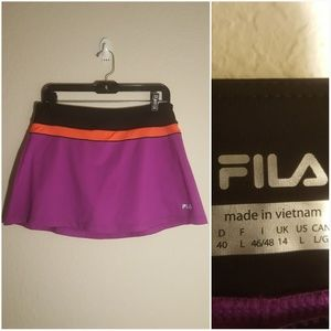 Fila purple orange and black skirt with shorts